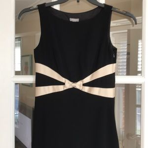 Ann Taylor petite LBD with champagne color trim